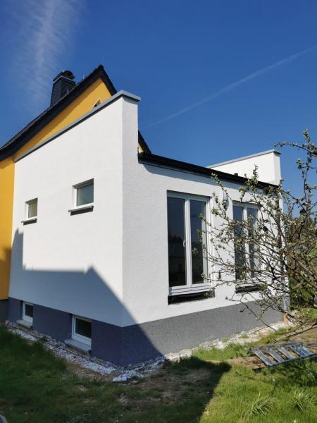 Rohbauarbeiten für Anbau mit Terrasse